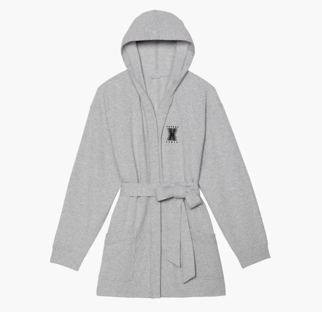 savage x fenty, fenty, rihanna, robe, grey