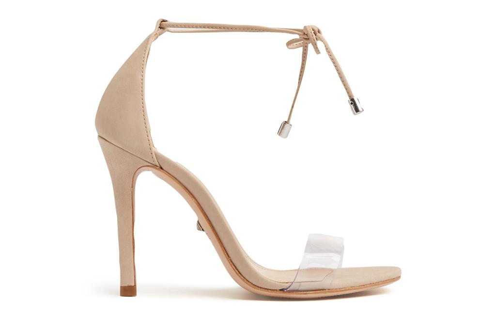 schutz, heels, pumps, nude, clear