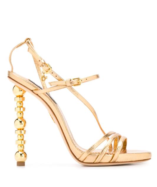 DSqauerd2 Gold Sandals