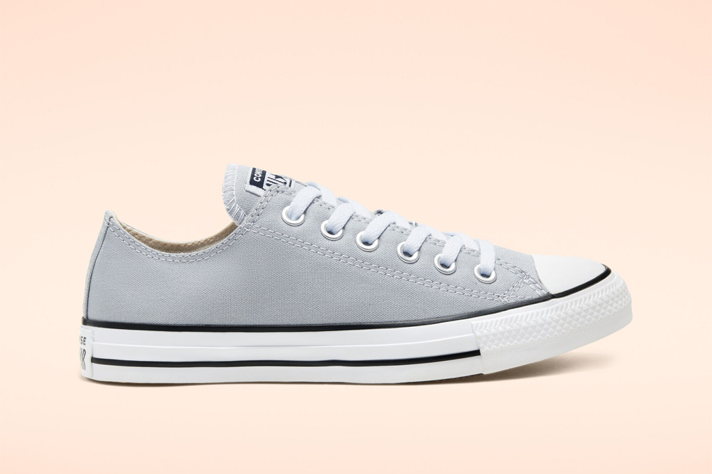 Seasonal Color Chuck Taylor All Star High Top in Wolf Gray, seasonal converse sale, gray low top