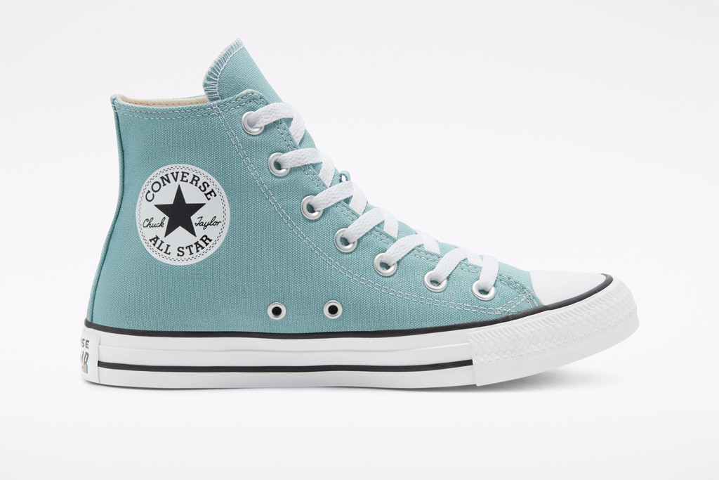 Seasonal Color Chuck Taylor All Star High Top in Ceramic Teal, blue high top, converse sneaker