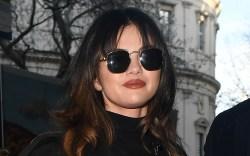 selena gomez, glasses, black, sweater
