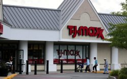 Shoppers enter the TJ Maxx store