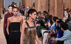 Models on the catwalkSalvatore Ferragamo show,