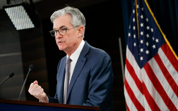 "Federal Reserve Chair Jerome Powell speaks during a news conference, to discuss an announcement from the Federal Open Market Committee, in Washington. In a surprise move, the Federal Reserve cut its benchmark interest rate by a sizable half-percentage point in an effort to support the economy in the face of the spreading coronavirus. Chairman Jerome Powell noted that the coronavirus ""poses evolving risks to economic activityVirus Outbreak Economy, Washington, USA - 03 Mar 2020"