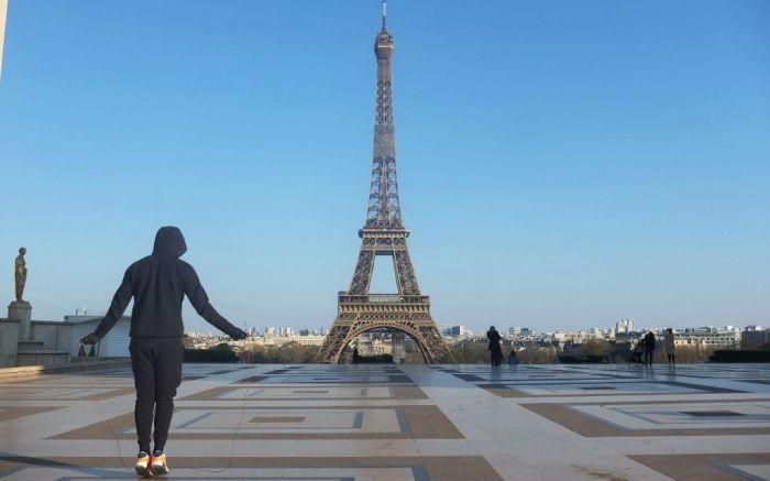 An empty Paris.