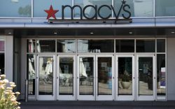 A closed Macy's department store in
