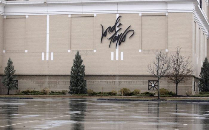 Hundreds of empty parking spaces outside the Lord & Taylor store, closed due to the virus outbreak, in Salem, N.HVirus Outbreak New England, Salem, United States - 03 Apr 2020