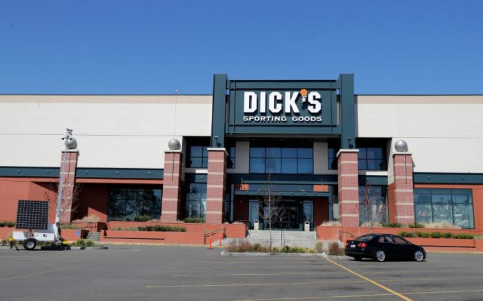 Closed Dick's Sporting Goods store is shown, at a mall in Tacoma, Wash. More than 170,000 people filed new claims for unemployment benefits in Washington state last week, officials said Thursday, bringing the total number of initial claims filed in the state to nearly half a million since mid-March, when businesses started closing or limiting operations due to the coronavirus outbreak. Dick's announced Thursday that they would be putting most of their employees on furlough starting Sunday due to closed stores and the outbreak of the coronavirusVirus Outbreak Washington State, Tacoma, United States - 09 Apr 2020