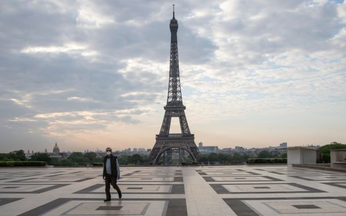 An empty Paris during coronavirus lockdown