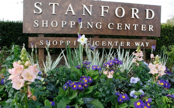 The Stanford Shopping Center, a Simon Property Group property in Palo Alto, Calif., is seen . Simon Property Group, the nation's largest shopping mall owner, made a $10 billion hostile bid Tuesday to acquire ailing rival General Growth PropertiesSimon Properties General Growth, Palo Alto, USA