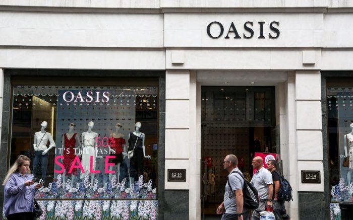 Summer sales in Oasis store on Oxford Street in London's west endSummer sales on Oxford Street, London, UK - 04 Jul 2018