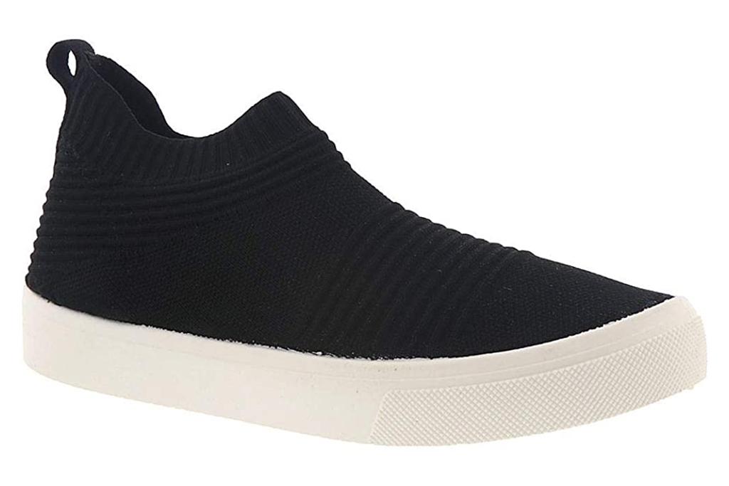 skechers sneakers, sock style, black