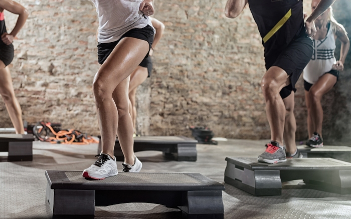 Muscle legs on steppers training; Shutterstock ID 495653437; Usage (Print, Web, Both): web; Issue Date: 4/9