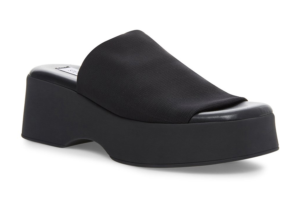 steve madden, sandals, slides, platform