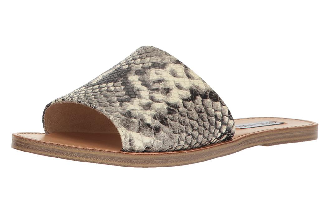 steve madden, sandals, snakeskin
