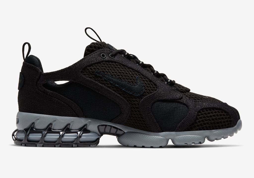 Stussy x Nike Air Zoom Spiridon Cage 2 'Black'