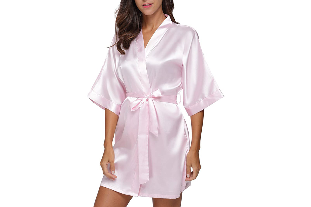 the bund, robe, short, pink, silk