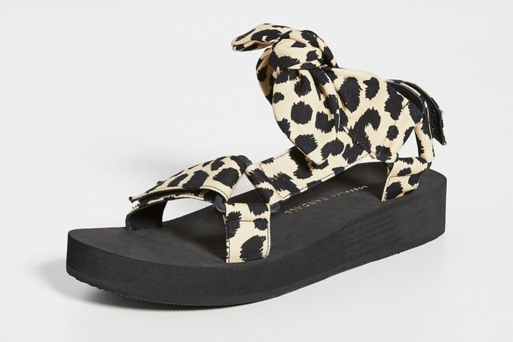 Loeffler Randall Maisie Sport Sandals, animal print trend, tiger king print