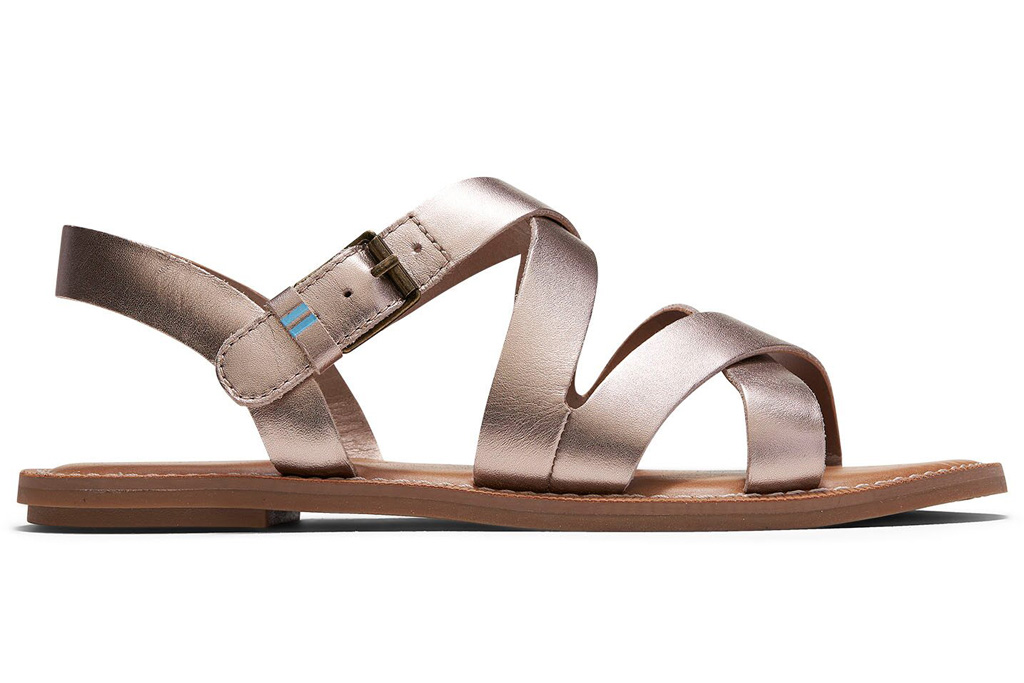 toms, metallic sandals