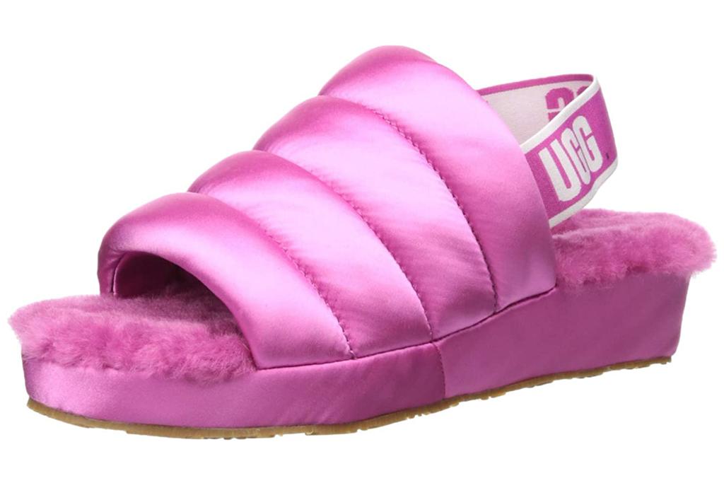 ugg, puff yeah, pink, slides