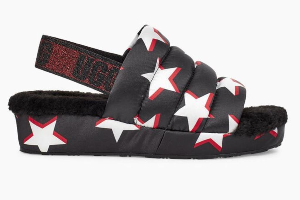 ugg, puff yeah, stars, sandals