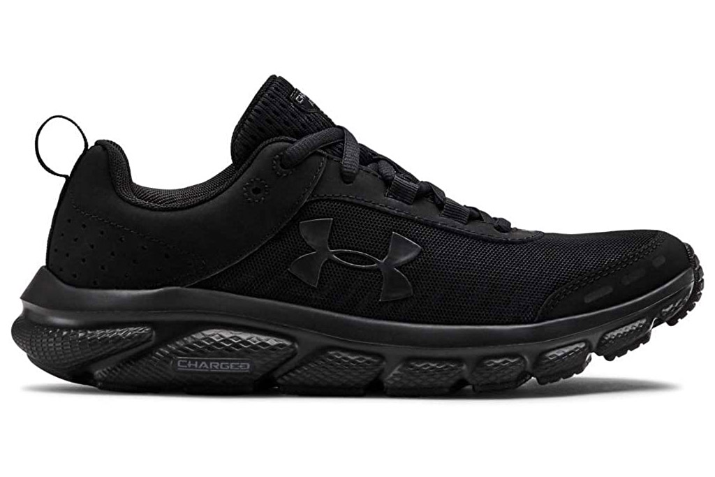 under armour, running shoes, black