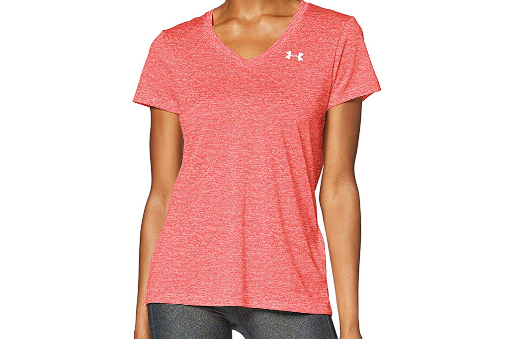 under armour, v-neck, workout, top