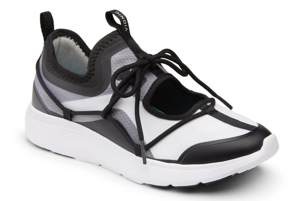 vionic, sneakers, black, white, cut-out