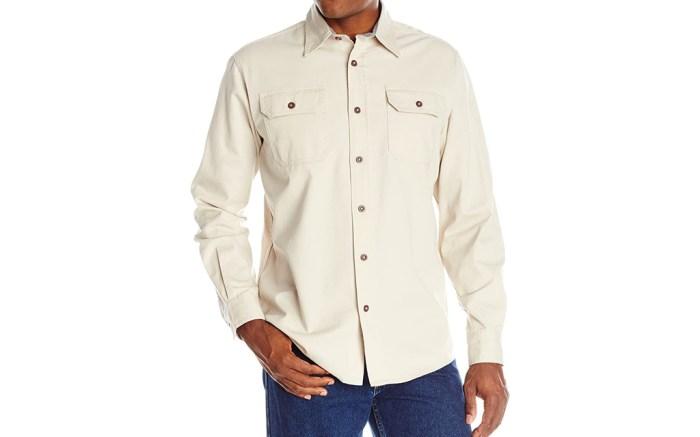 wrangler, untucked shirt, button up shirt