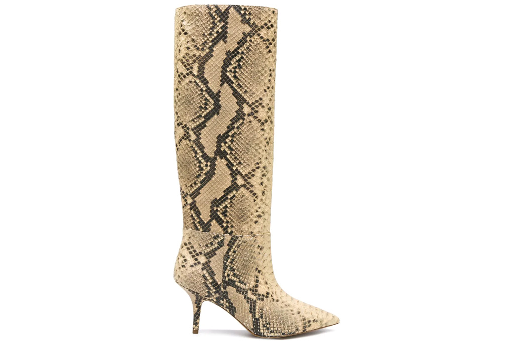 yeezy, snakeskin, boots, pointed