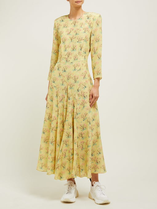 The yellow long-sleeve dress Kate Middleton wore by Matches Fashion private label Raey is now sold out