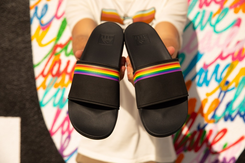 reef scout slides, pride sandals 2021