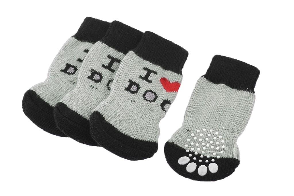Unique Bargains Non-Slip Dog Socks, dog socks