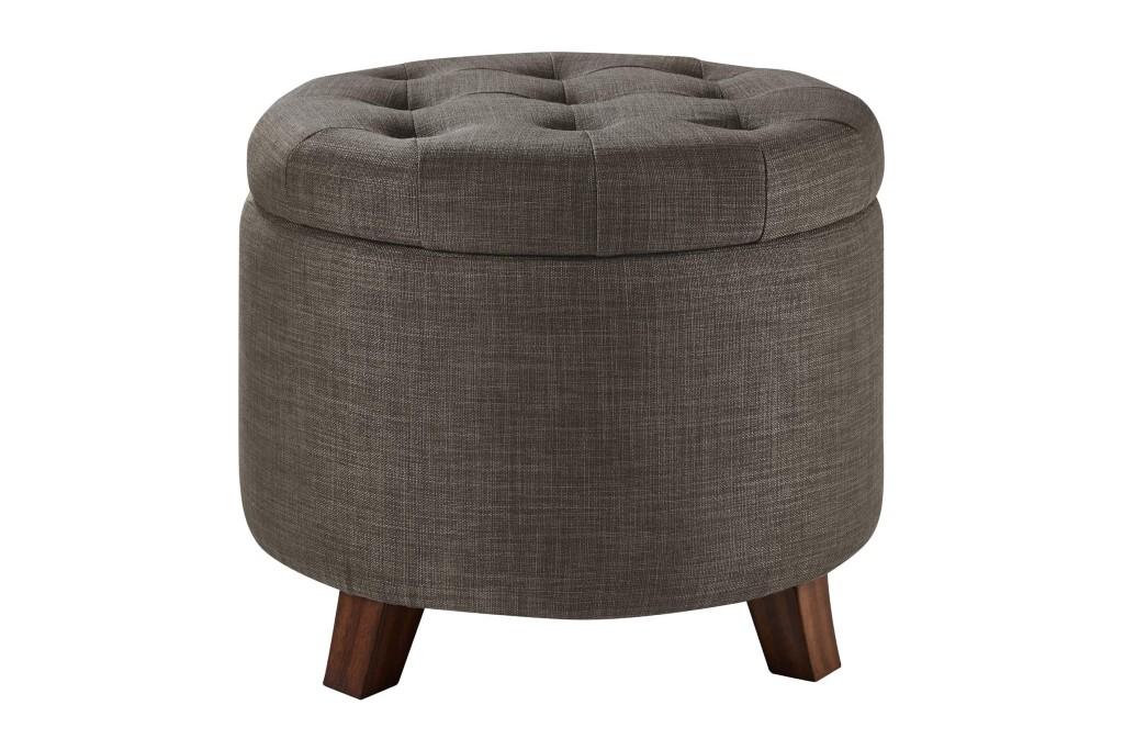 Amazon Basics Upholstered Tufted Storage Footstool