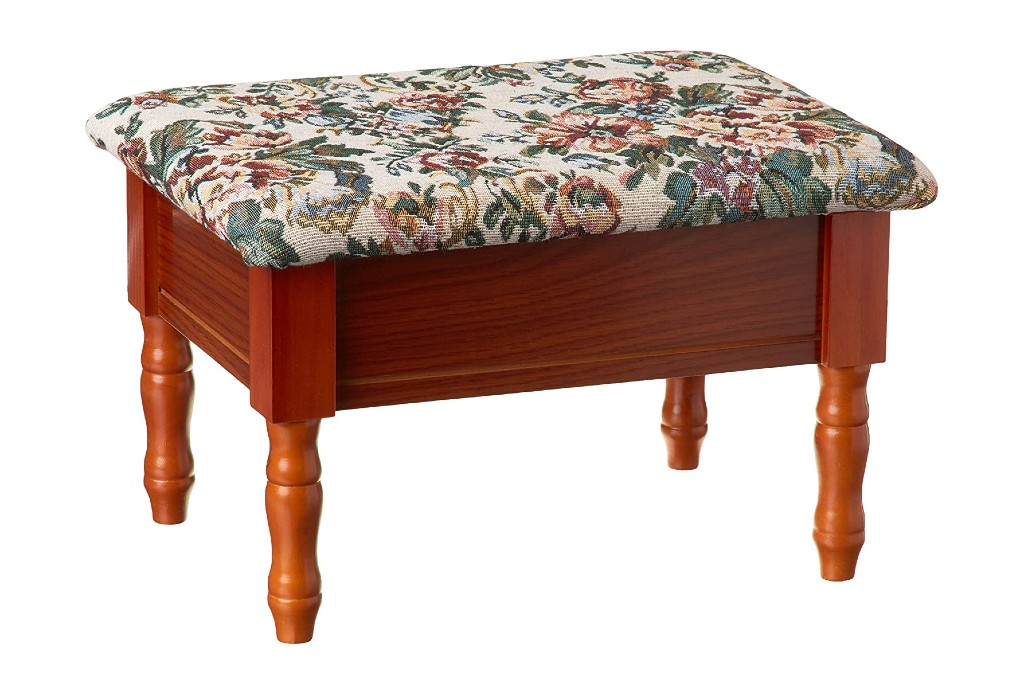 Frenchi Furniture Queen Anne Style Footstool, footstools