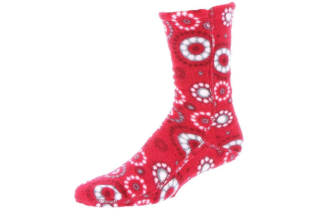 acorn, fleece socks