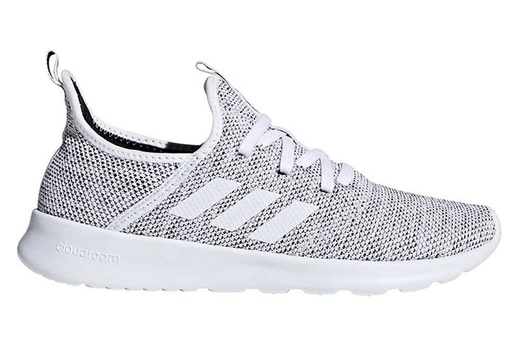 adidas cloudfoam, sneakers, gray, white