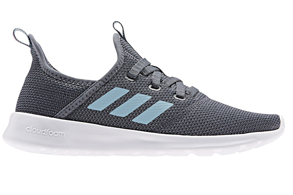 adidas, running shoes, gray, blue