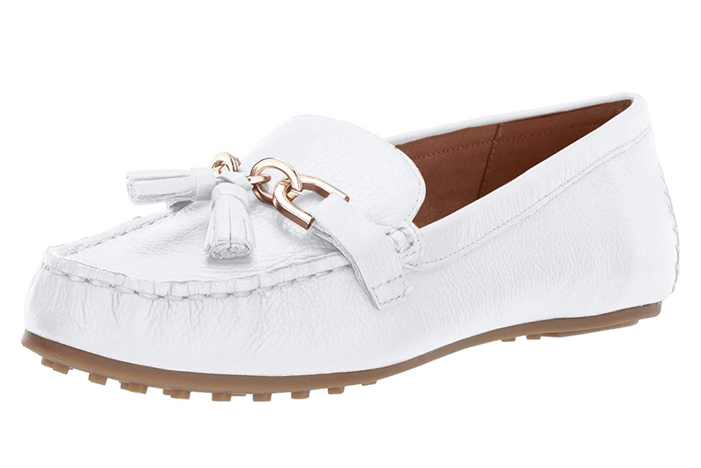 Aerosoles, white penny loafers