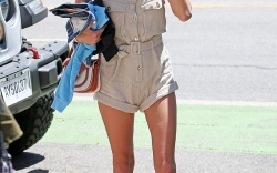 Alessandra Ambrosio at the Ivy in Santa Monica.
