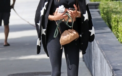 Alessandra Ambrosio seen leaving yoga in Santa Monica