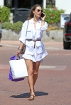 Alessandra Ambrosio seen out shopping in Malibu with her son Noah