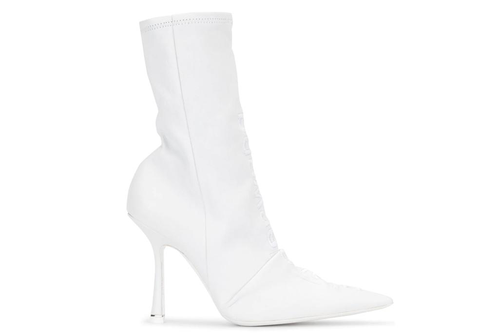 alexander wang, white boots, designer