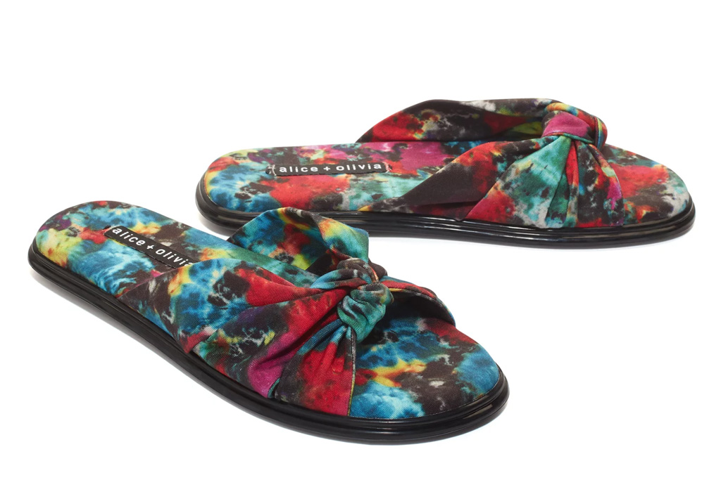 alice and olivia, slides, tie dye