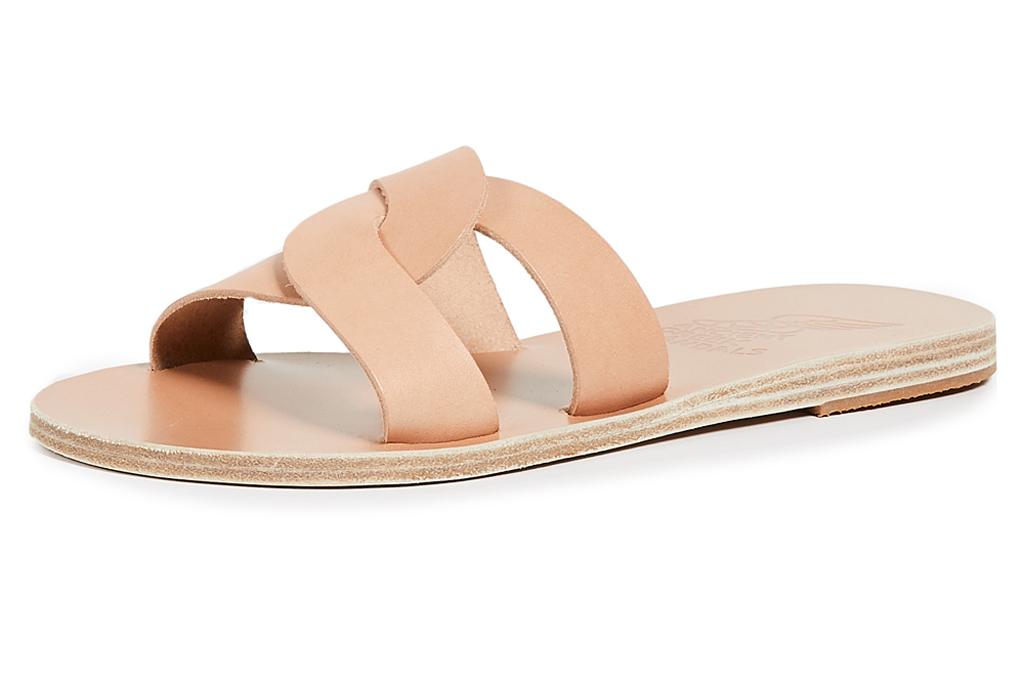 Ancient Greek Desmos , flat sandals, slides