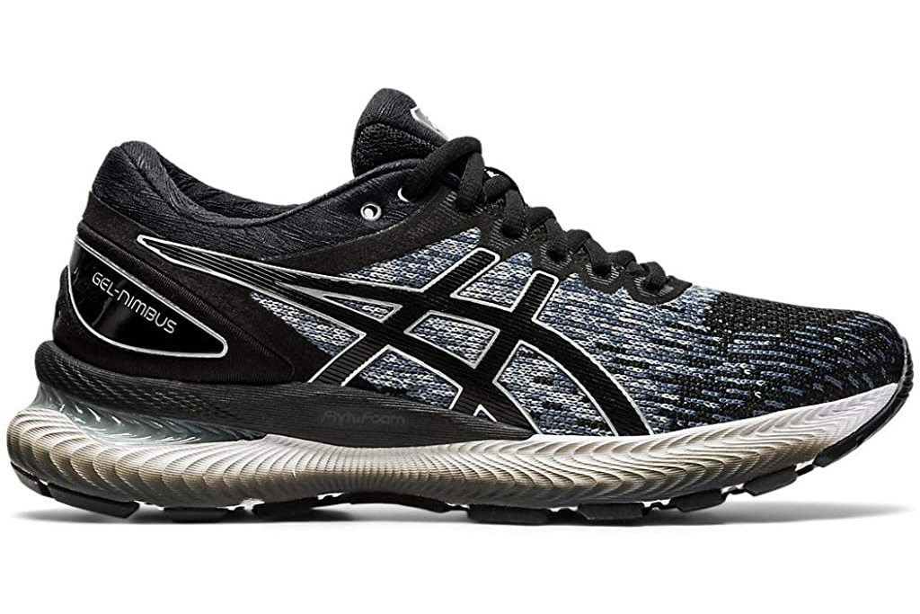 asics, sneakers, gel nimbus, black white