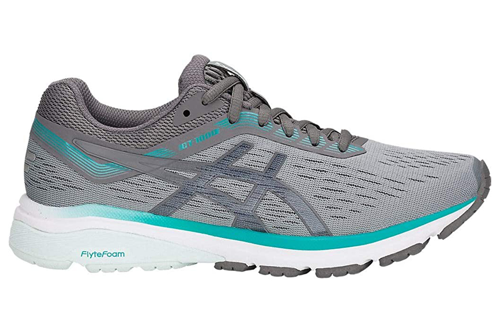 asics, sneakers, running shoes, gray, blue