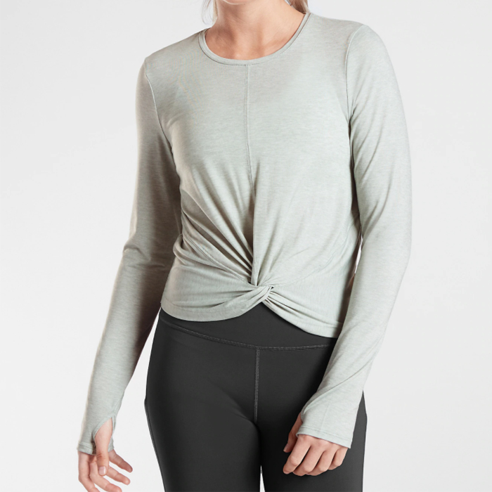 athleta, twist top