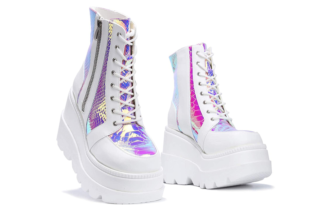 cape robbin, holographic boots